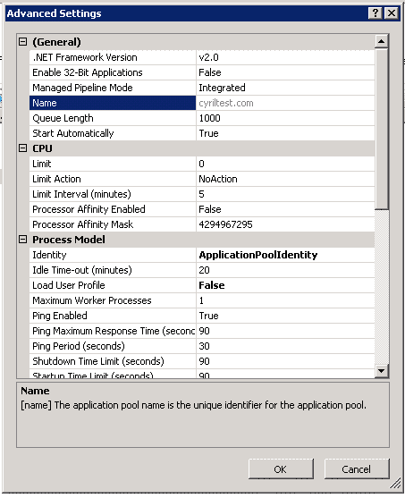 Application Pool in IIS - Xieles Support