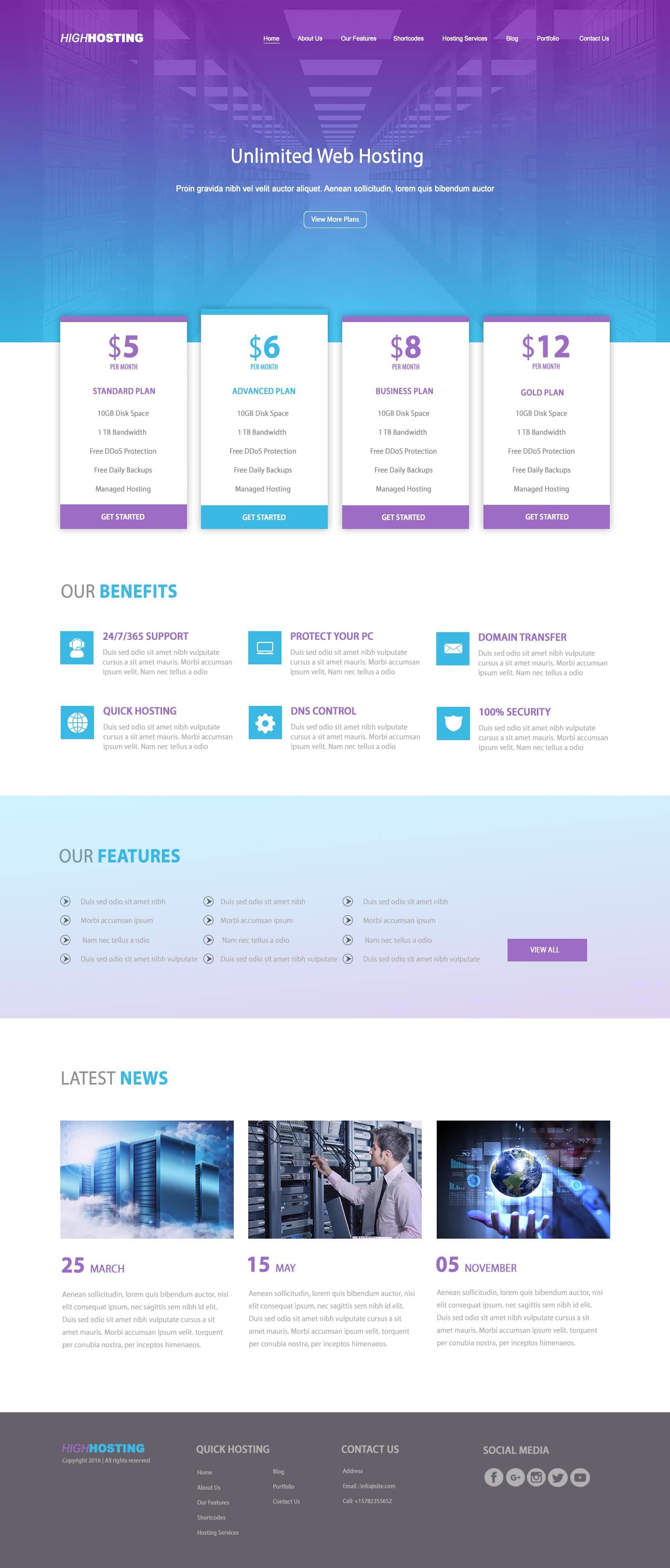 web hosting designs