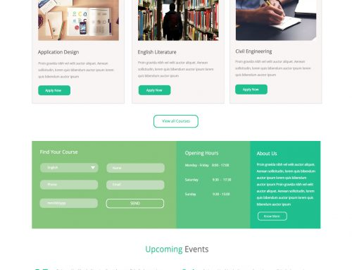 Education Website Designs #1