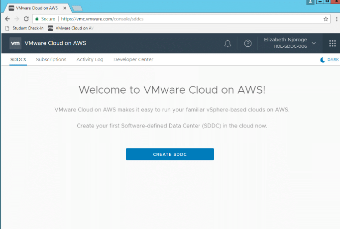 Creating an SDDC Page