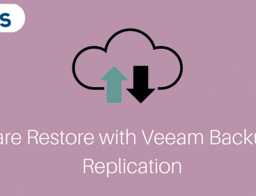 VMware restore with Veeam Backup and Replication