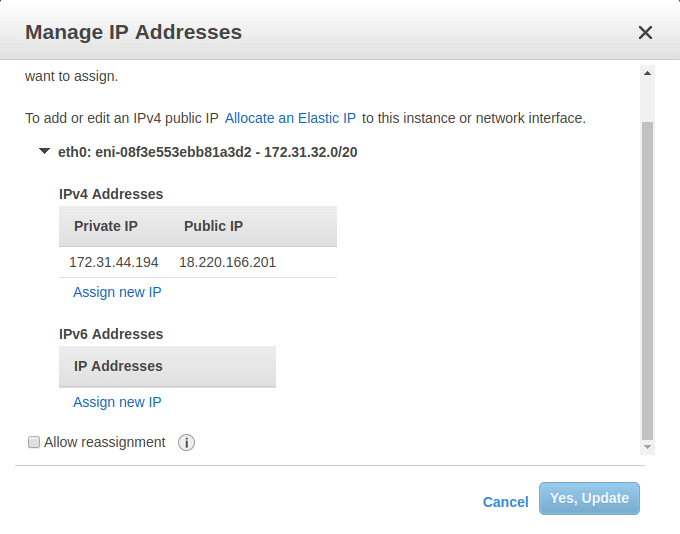 Manage IP addresses