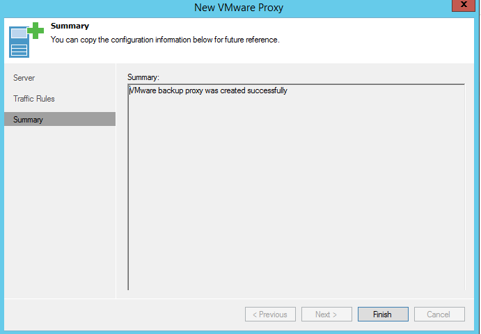VMware proxy summary
